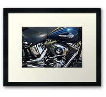 The Motorcycle as Art: Harley-Davidson Heritage Softail > Framed Print