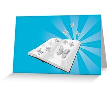 Butterfly cut out of book Greeting Card