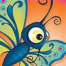 Critterz - Butterfly1 by Kat Massard