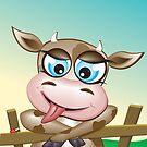 Critterz-Brown Cow - cheeky agnes by Kat Massard