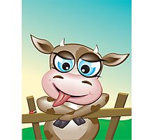 Critterz-Brown Cow - cheeky agnes Photographic Print