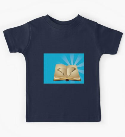 Butterfly cut out of book 2 Kids Tee