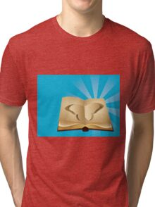 Butterfly cut out of book 2 Tri-blend T-Shirt