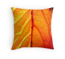 Leaf Vein Throw Pillow