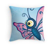 Critterz - Butterfly2 Throw Pillow