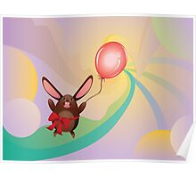 Chocolate Bunny with Balloon 3 Poster