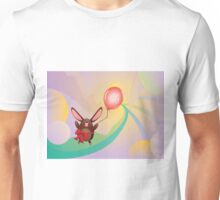 Chocolate Bunny with Balloon 3 Unisex T-Shirt