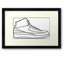 Air Jordan 2 Black Framed Print