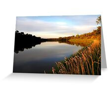 Autumn on the Assiniboine At Dusk... Greeting Card
