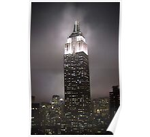 Empire State Building in the fog Poster