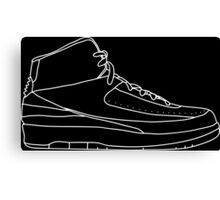 Air Jordan 2 White Canvas Print
