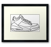 Air Jordan 3 Black Framed Print
