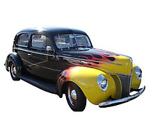 Flamin' 40's Ford Photographic Print