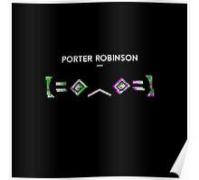 Porter Robinson 【=◈︿◈=】 Glitched Kaomoji Poster
