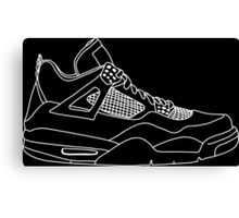 Air Jordan 4 White Canvas Print