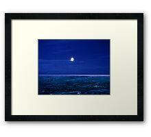 Baffin Island Moon Framed Print