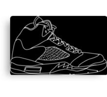 Air Jordan 5 White Canvas Print