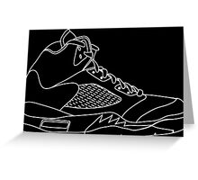 Air Jordan 5 White Greeting Card