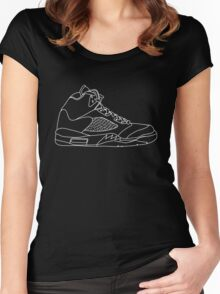 Air Jordan 5 White Women's Fitted Scoop T-Shirt