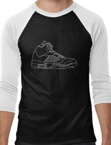Air Jordan 5 White Men's Baseball ¾ T-Shirt