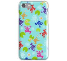 Frogs Over Troubled Water iPhone Case/Skin