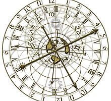 metal astronomical clock by siloto