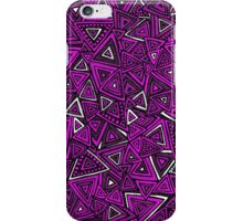Tribal Triangles - Pink iPhone Case/Skin