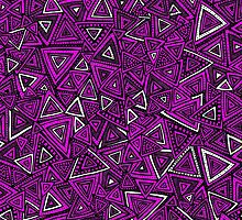 Tribal Triangles - Pink by robyriker
