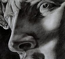 detail of Michelangelo's David by RmvPortraitsArt
