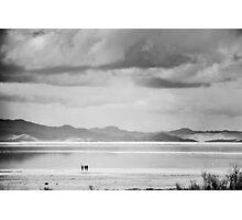 Walking on Salt Photographic Print