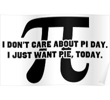 Pi Day Pie Day Poster