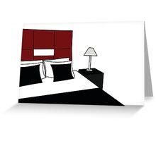 de stijl bedroom Greeting Card