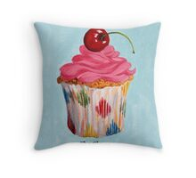 Cupcake - The Clown Throw Pillow
