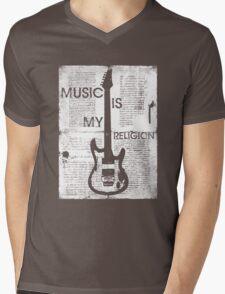 Music Is My Religion Mens V-Neck T-Shirt