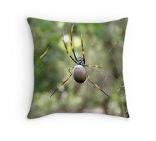 Golden Orb-Weaver Throw Pillow