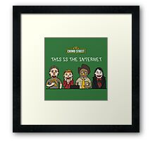 This is the internet Framed Print