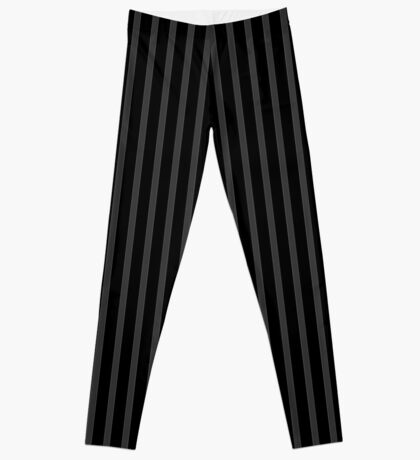 Gray Black Striped Leggings Leggings