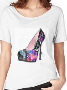 Wall Art Shoe Illustration Party Like a Rockstar Women's Relaxed Fit T-Shirt
