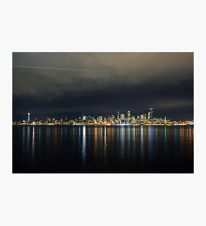 Flight Path Over The Seattle Skyline Photographic Print