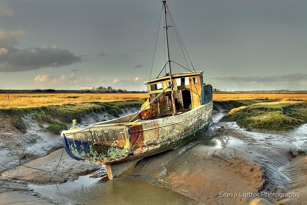Boat at Sunderland Point, Lancashire by Steve  Liptrot