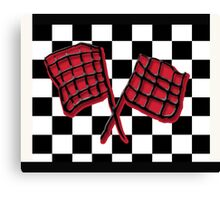 Black and red race flag Canvas Print