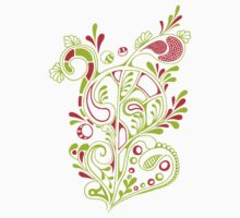 doodle bloom in white Baby Tee