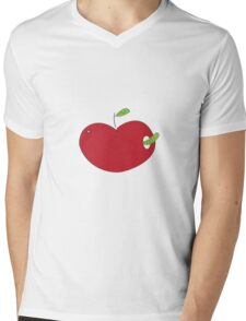 apple & caterpillar Mens V-Neck T-Shirt