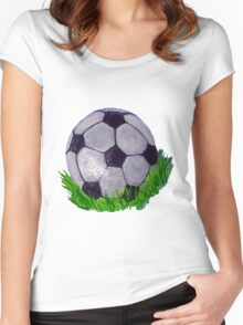 I love soccer Women's Fitted Scoop T-Shirt