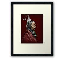 Flying Hawk Framed Print
