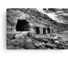 Boat caves. Canvas Print