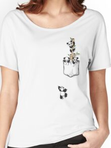 POCKET PANDAS Women's Relaxed Fit T-Shirt