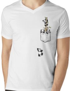 POCKET PANDAS Mens V-Neck T-Shirt