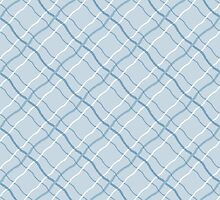 Blue Ribbon Checkered Pattern by BuzzEdition