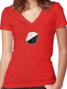 Yin Yang Bunnies Women's Fitted V-Neck T-Shirt